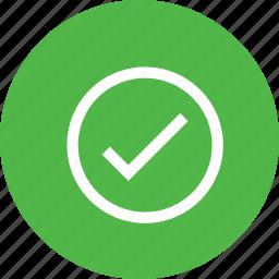 check, interface, pure, round, tick, verify icon