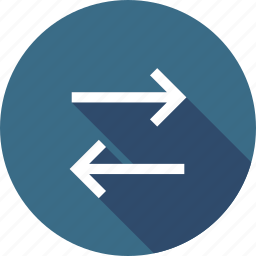 arrow, direction, interface, left, path, right, way icon