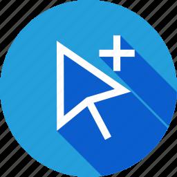arrow, group, interface, plus, select, selection, tool icon
