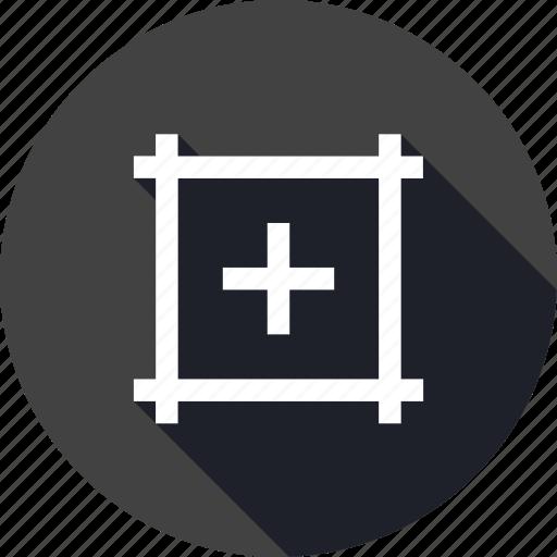 artboard, center, centermark, interface, mark, show, ui icon