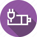 battery, charge, charging, in, indicator, plug icon
