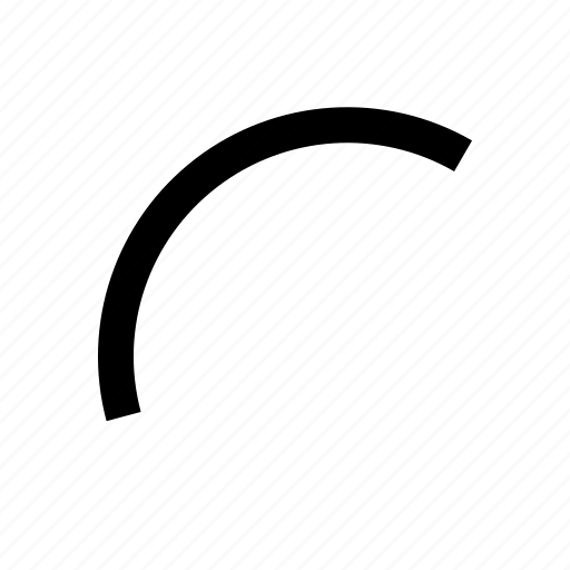arc, curve, draw, interface, line, tool icon