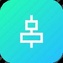 center, align, arrangement, horizontal, tool, arrange icon