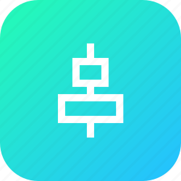 align, arrange, arrangement, center, horizontal, tool icon