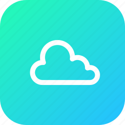 cloud, interface, online, storage, stroke icon