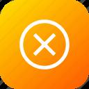clean, cross, delete, junk, remove, round, sign icon