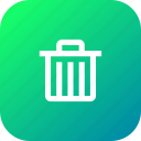 delete, dustbin, garbage, recyclebin, remove, trash icon