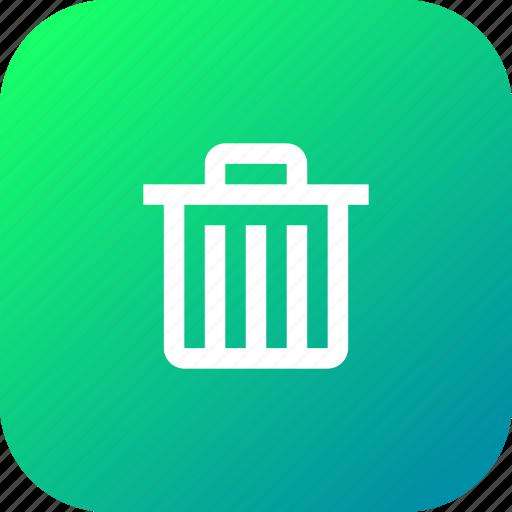 delete, dustbin, garbage, recyclebin, remove, trash icon