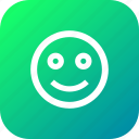 badge, emoji, face, fresh, round, smile, smiley