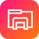 bunch, document, extension, file, folder, interface icon