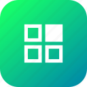 app, application, grid, interface, menu, select, selection