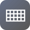 grid, interface, rectangle, rectangular, tool, web icon