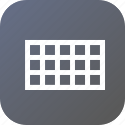 grid, interface, rectangle, rectangular, tool, web icon