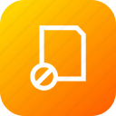 banned, block, doc, file, folder, interface, layer icon