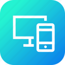combo, flexible, lcd, monitor, responsive, screen, smartphone icon