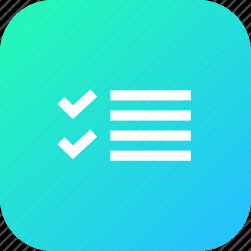 checklist, correct, interface, list, margin, write icon