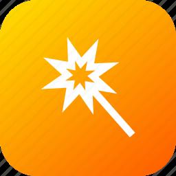 design, interface, magic, shape, tool, wand icon