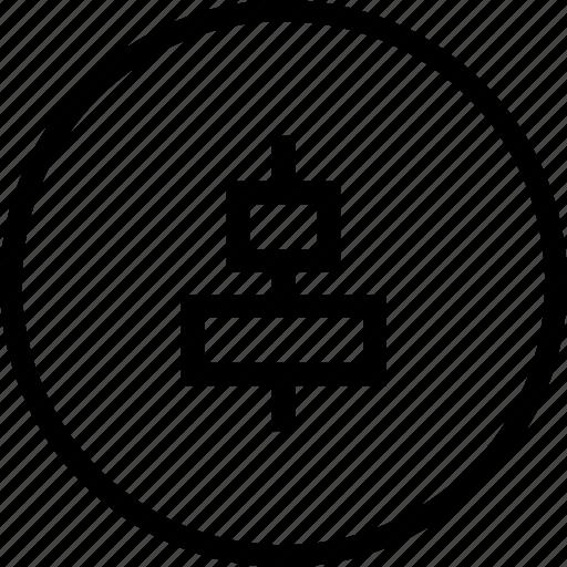 align, arrange, arrangement, center, horizontal, tool icon