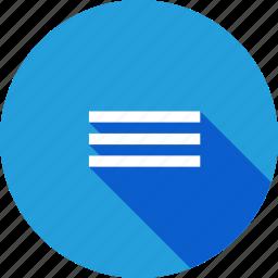alignment, centre, interface, line, margin icon