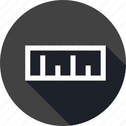 interface, measure, measurement, ruler, scale icon