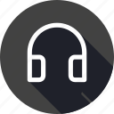 entertainment, headphone, loud, music, song, voice icon