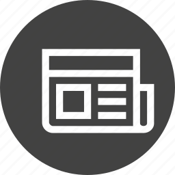 announcement, data, information, interface, news, paper, report icon