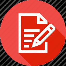 book, memo, note, notebook, pen, pencile, write icon