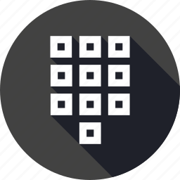 arrange, keypad, numbers, numpad, square, tile icon
