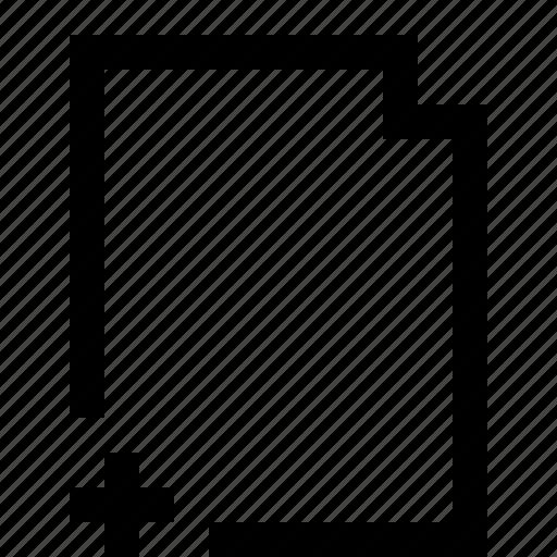 add, addition, document, file, note, ui icon