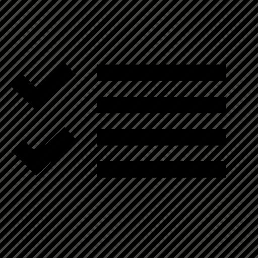 checklist, correct, interface, list, margin, ui, write icon