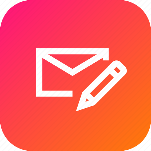communication, edit, email, mail, message, pencil, write icon