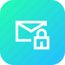 chat, chatting, interface, lock, mail, message, secure