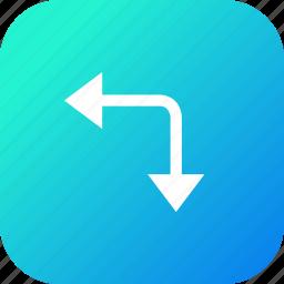 alignment, arrow, down, increase, left, margin, maximum icon