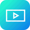 clip, data, file, information, interface, movie, video icon