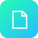 blank, doc, document, file, interface, layer, new icon