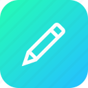 edit, erase, interface, pen, pencil, tool icon
