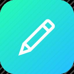 edit, erase, interface, pen, pencil, tool icon