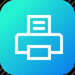 copy, interface, paper, print, printer icon