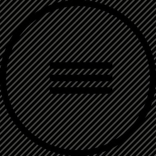 alignment, centre, interface, line, margin, ui icon