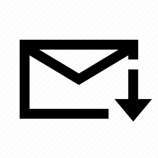 downlaod, email, interface, mail, message, pencil, ui icon