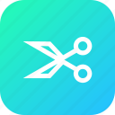anchor, interface, ponits, scissors, tool, cut