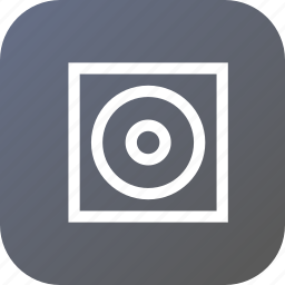 board, circle, illusion, interface, media, screen, square icon