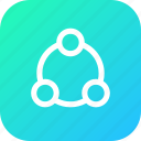communication, connect, connecting, interface, share, sharing icon