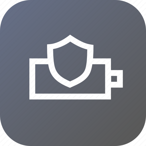 battery, charge, indicator, interface, protection, secure, shield icon