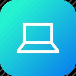 computer, laptop, screen, square, user, windows icon