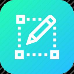 draw, interface, menu, pencil, select, tool icon