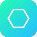 design, polygon, polygontool, shape, tool icon