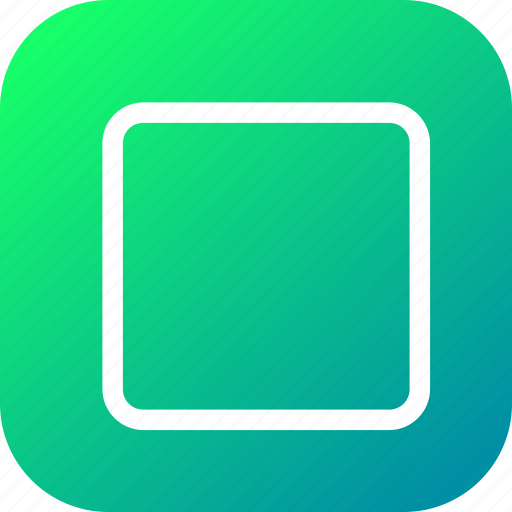 rectangle, rounded, shape, square, stroke, tool icon