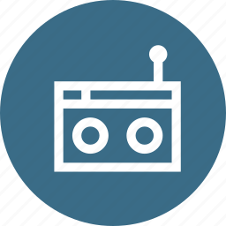 device, electronic, fm, interface, radio, recoder, tape icon