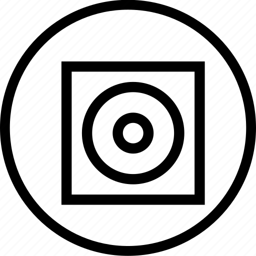 board, circle, illusion, interface, screen, square icon